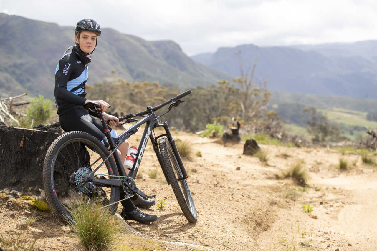 The Trek Supercaliber mountain bike with Kai von During as featured on Bike Network and shot on location in Tokai, Cape Town, SOuth AFrica on 1 October 2020. Images by Gary Perkin
