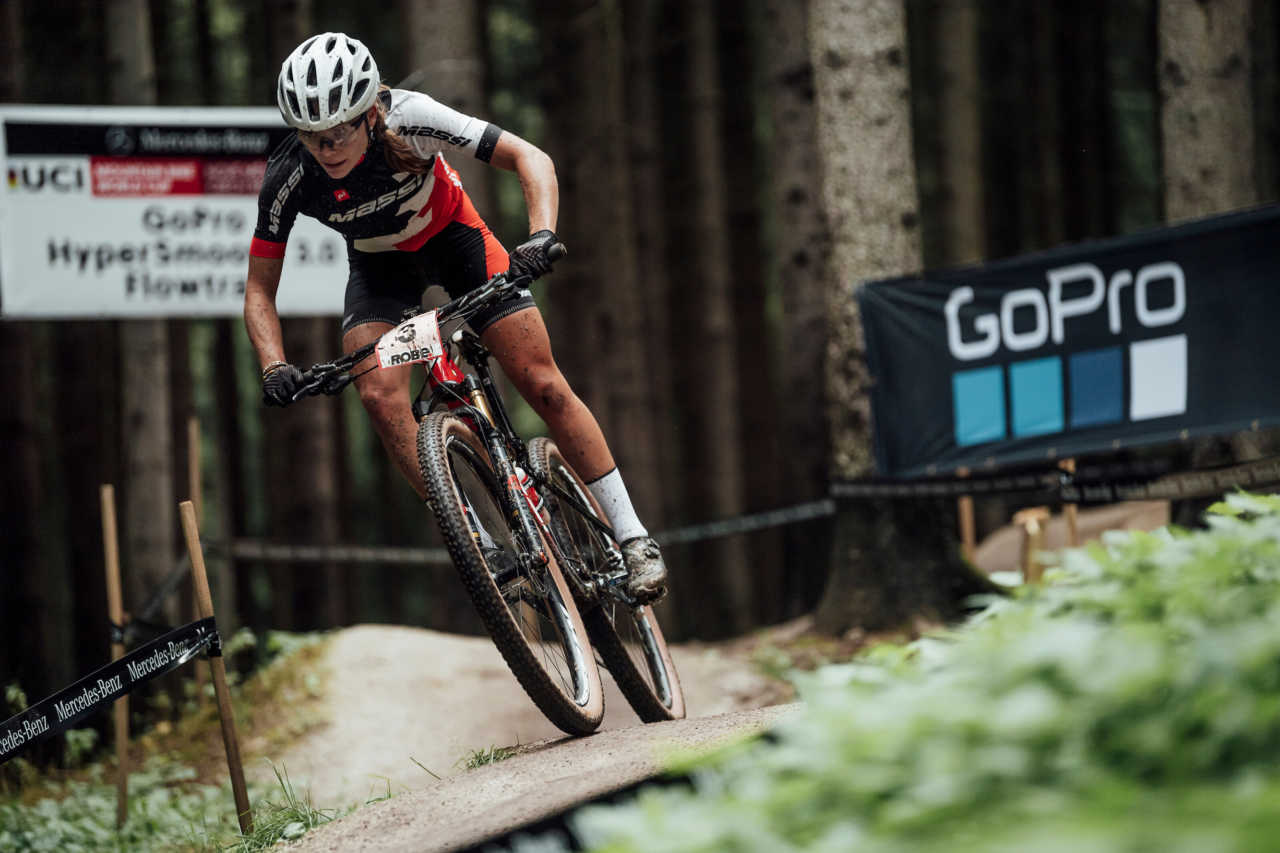 Loana Lecomte performs at UCI XCO in Nove Mesto na Morave, Czech Republic on October 1st, 2020 // Bartek Wolinski/Red Bull Content Pool // SI202010010789 // Usage for editorial use only //