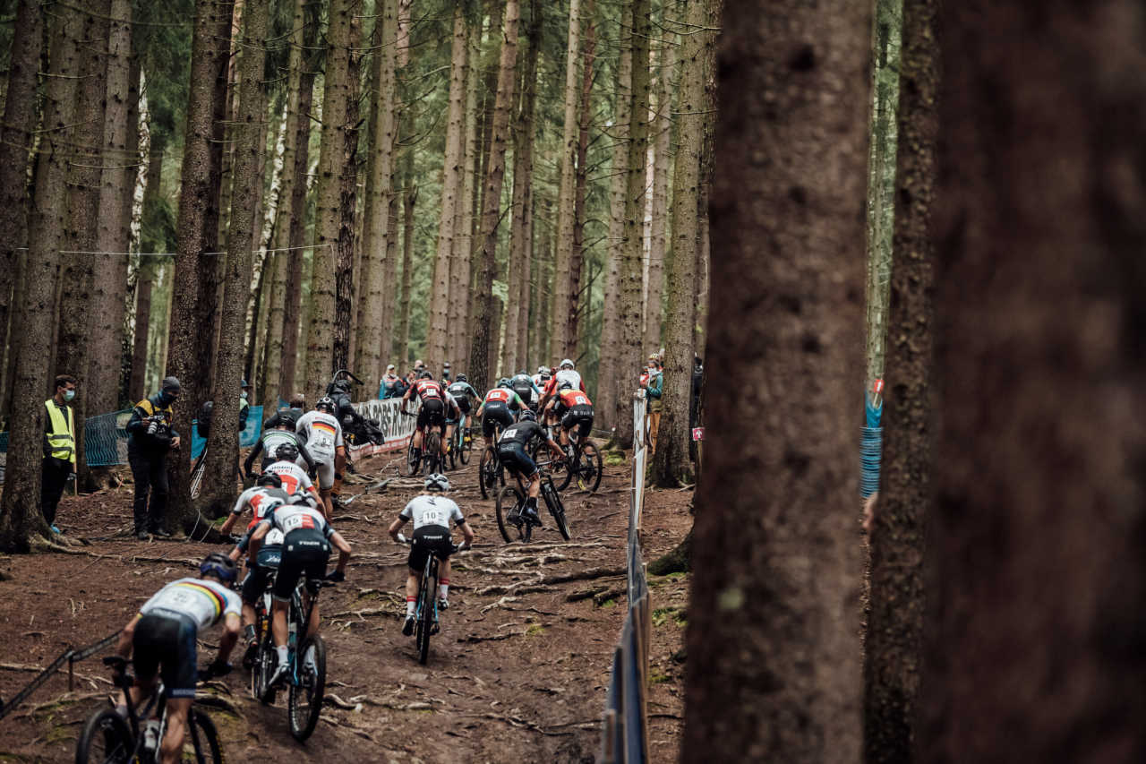 Competitors performs at UCI XCO in Nove Mesto na Morave, Czech Republic on October 1st, 2020 // Bartek Wolinski/Red Bull Content Pool // SI202010010807 // Usage for editorial use only //