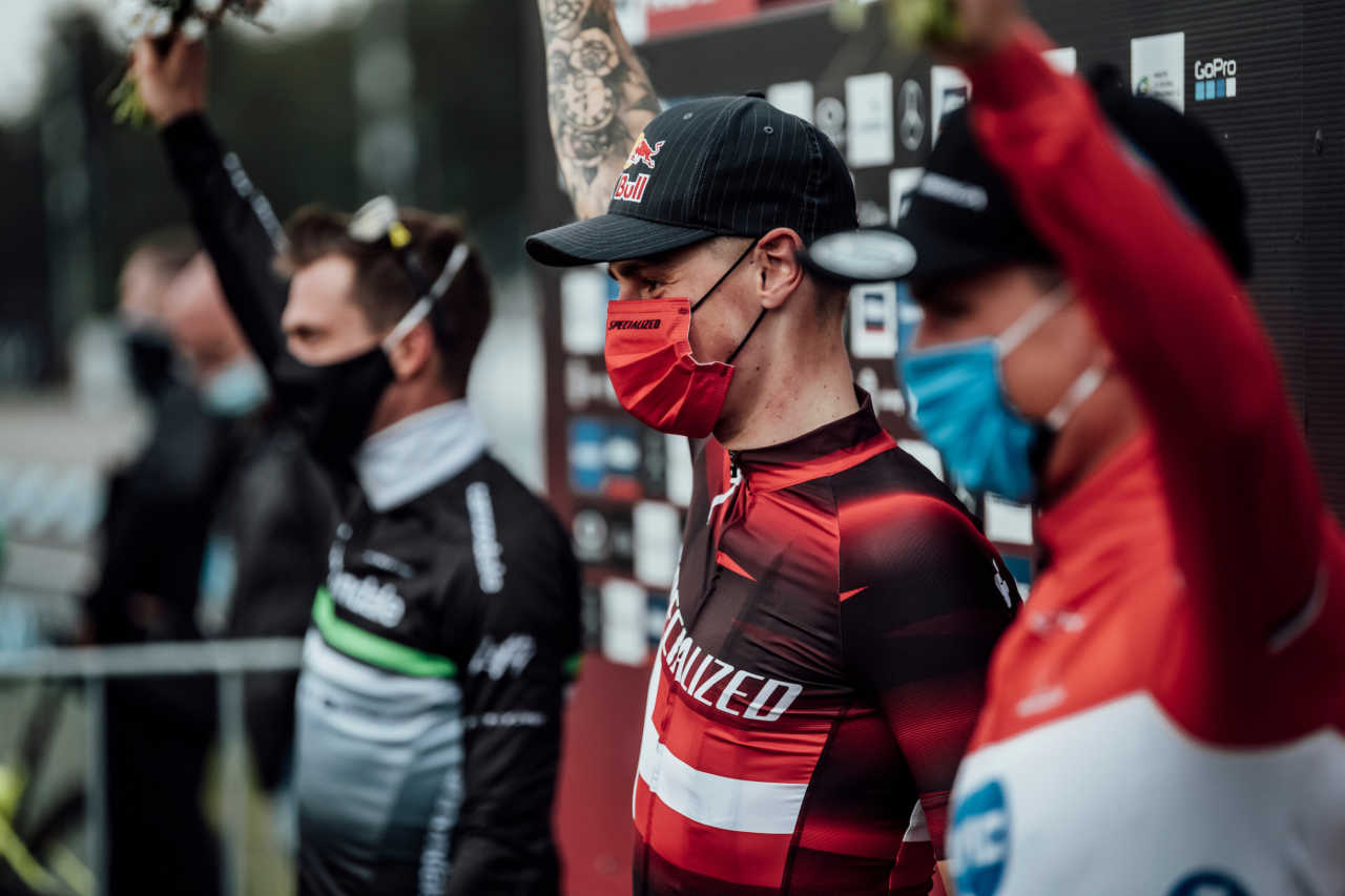 Simon Andreassen seen at UCI XCO in Nove Mesto na Morave, Czech Republic on October 1st, 2020 // Bartek Wolinski/Red Bull Content Pool // SI202010010819 // Usage for editorial use only //