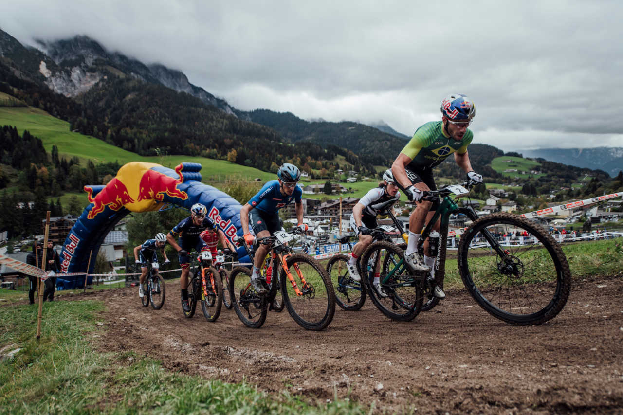 Henrique Avancini performs at UCI XCO World Championships in Leogang, Austria on October 10th, 2020 // Bartek Wolinski/Red Bull Content Pool // SI202010100548 // Usage for editorial use only //