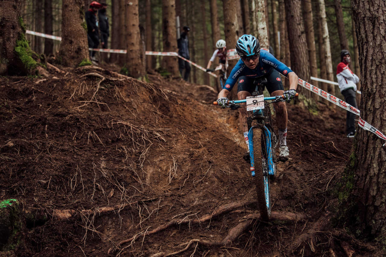 Eva Lechner performs at UCI XCO World Championships in Leogang, Austria on October 10th, 2020 // Bartek Wolinski/Red Bull Content Pool // SI202010100568 // Usage for editorial use only //