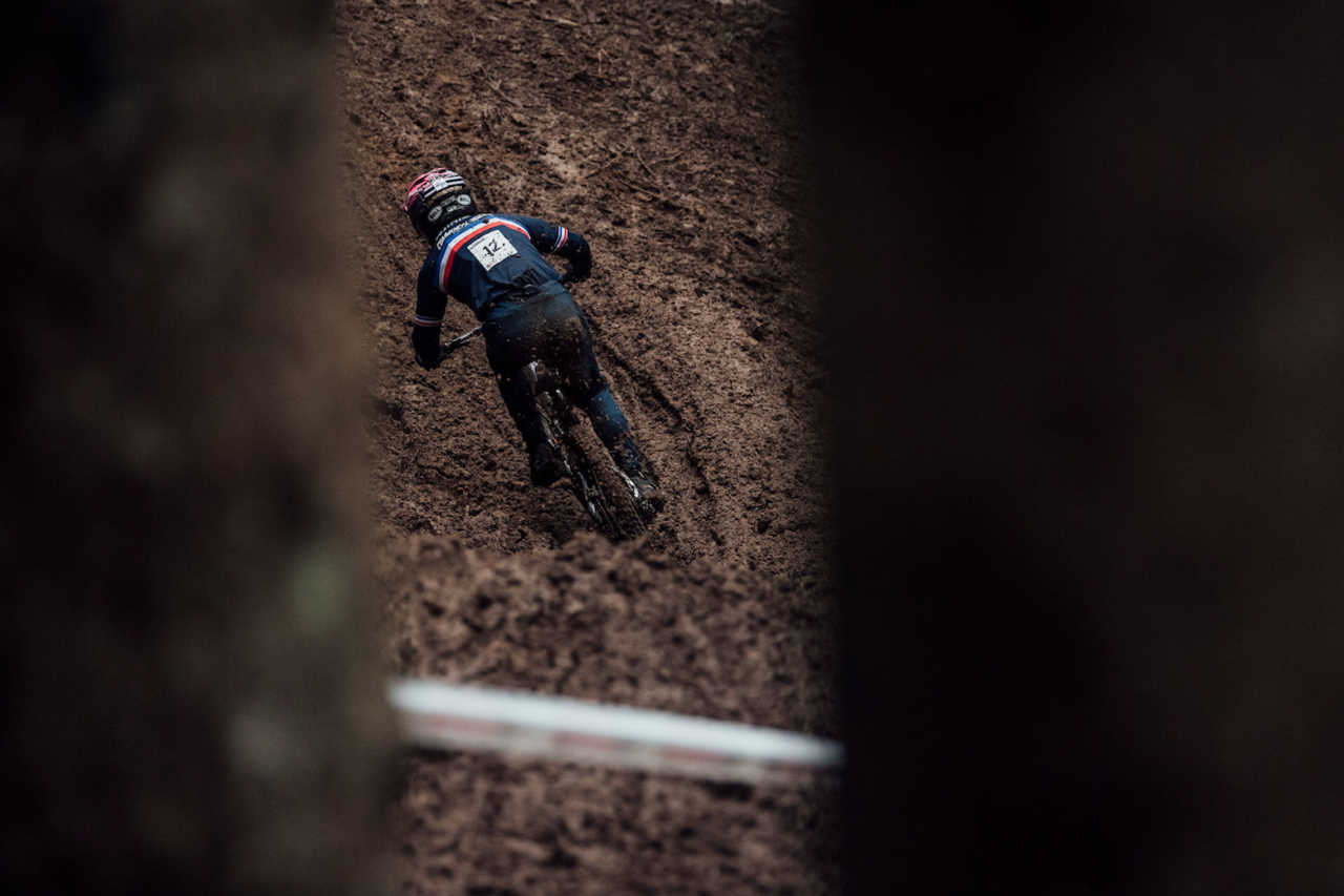 Remi Thirion performs at UCI DH World Championships in Leogang, Austria on October 11th, 2020 // Bartek Wolinski/Red Bull Content Pool // SI202010110633 // Usage for editorial use only //