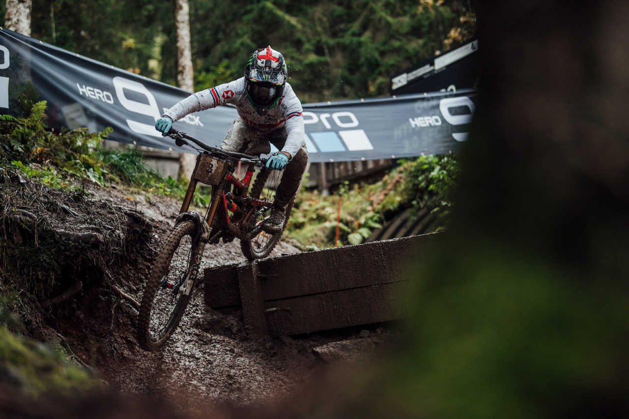Dany Hart performs at UCI DH World Championships in Leogang, Austria on October 11th, 2020 // Bartek Wolinski/Red Bull Content Pool // SI202010110648 // Usage for editorial use only //