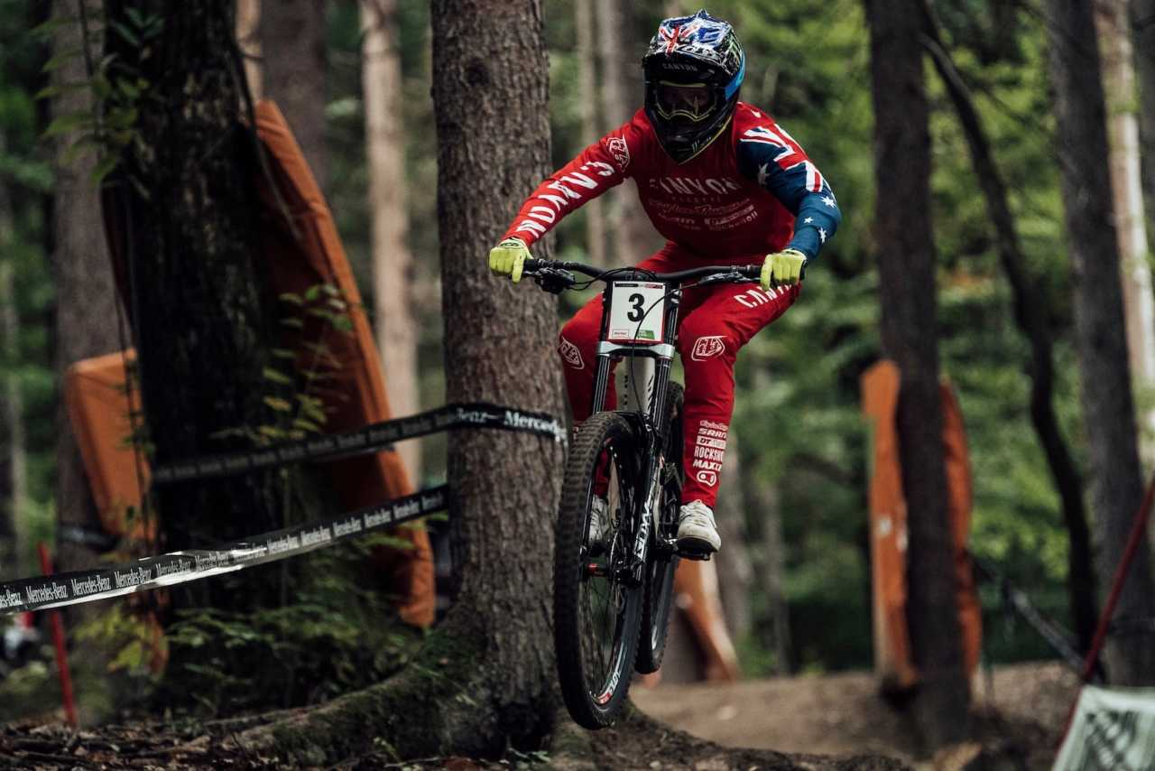 Troy Brosnan performs at UCI DH World Cup in Maribor, Slovenia on October 18th, 2020