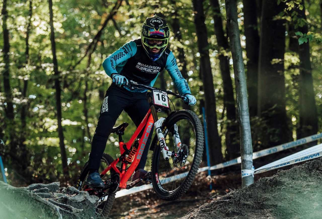 Matt Walker performs at UCI DH World Cup in Maribor, Slovenia on October 18th, 2020