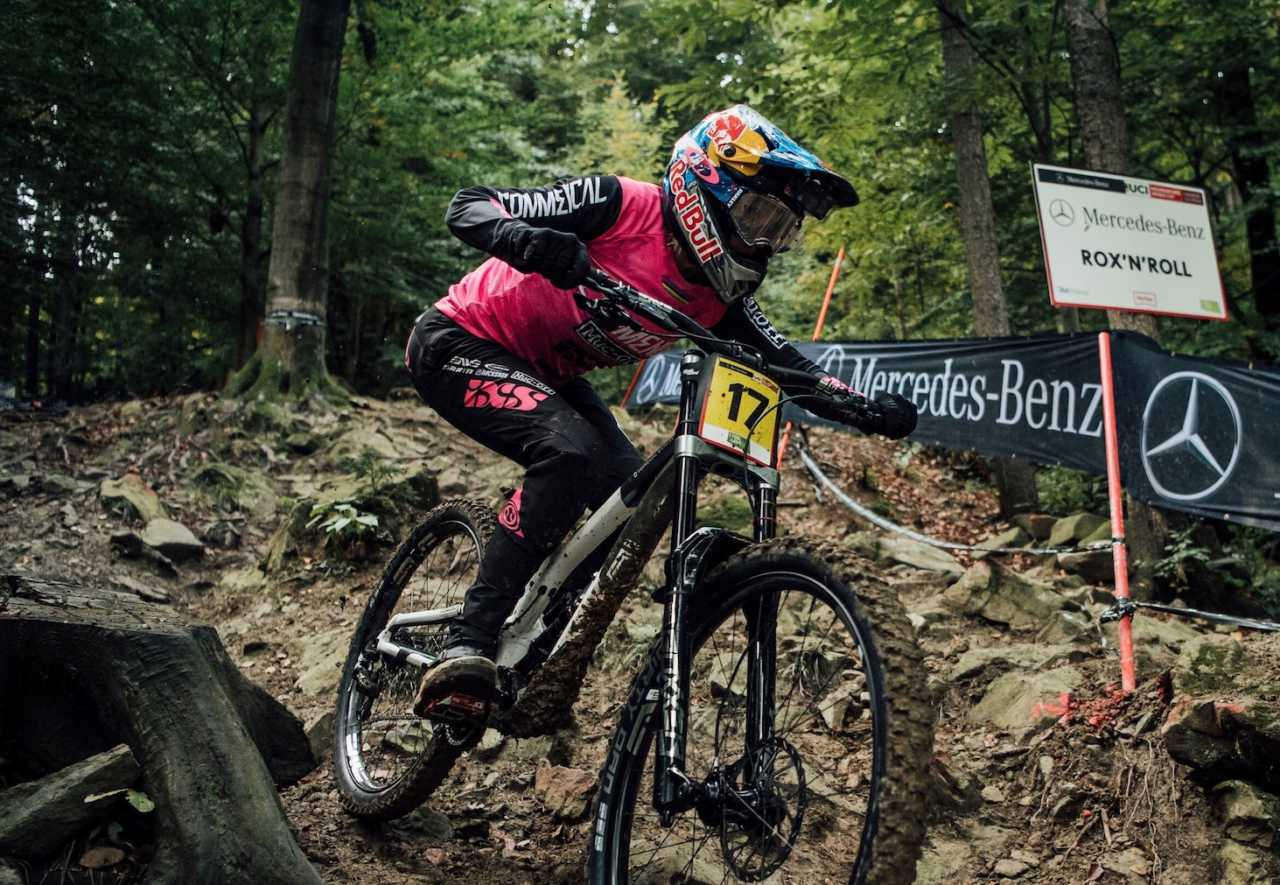 Myriam Nicole performs at UCI DH World Cup in Maribor, Slovenia on October 17th, 2020