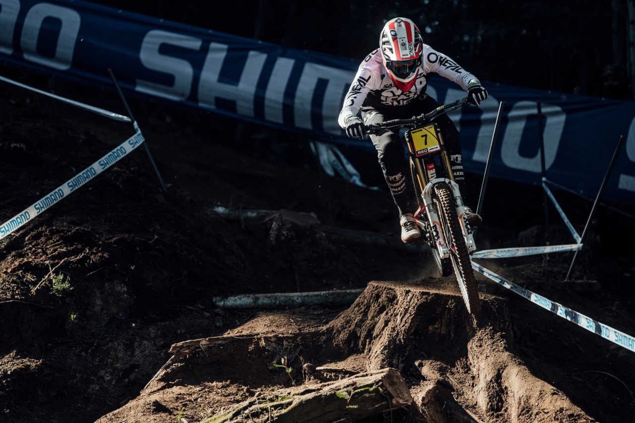 Greg Minnaar seen at UCI DH World Cup in Lousa, Portugal on October 30th, 2020 // Bartek Wolinski/Red Bull Content Pool // SI202010300660 // Usage for editorial use only //