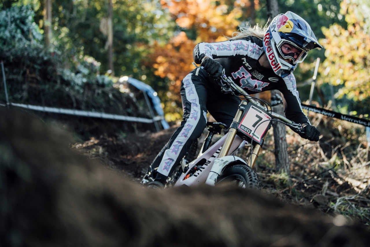 Tahnee Seagrave performs at UCI DH World Cup in Lousa, Portugal on October 30th, 2020 // Bartek Wolinski/Red Bull Content Pool // SI202010300648 // Usage for editorial use only //