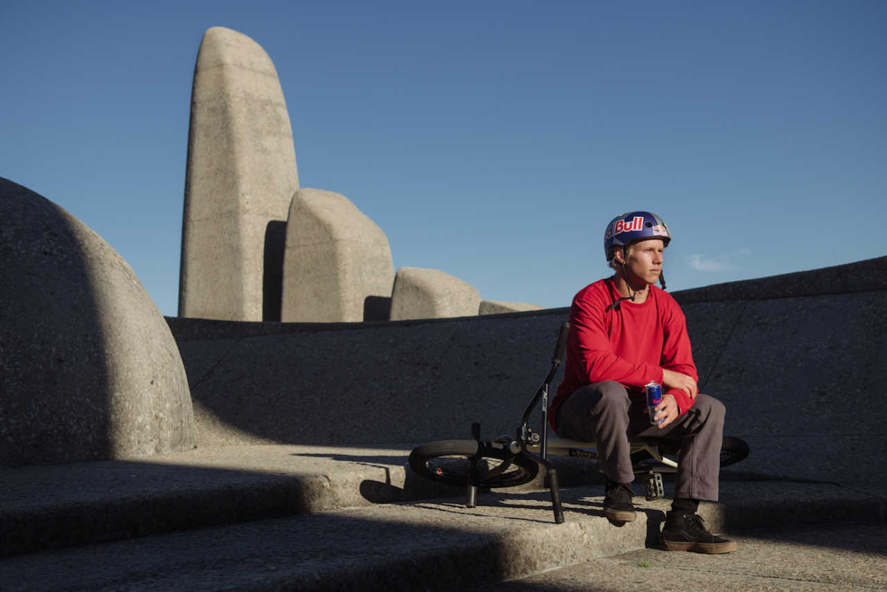 Murray Loubser is seen at the Afrikaans Language Monument  in Paarl, South Africa on July 16, 2020