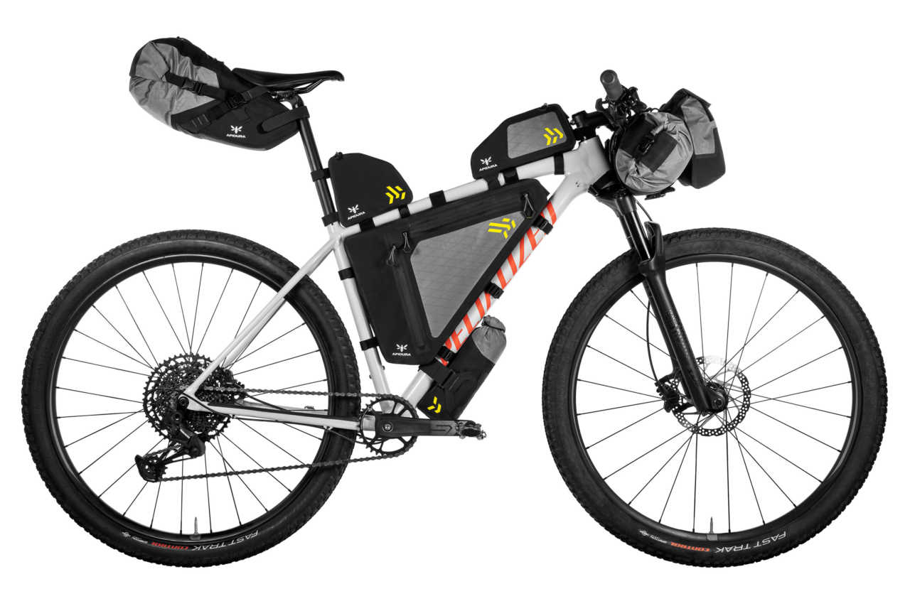 The new Apidura Backcountry Series of bike packs for cycling adventures
