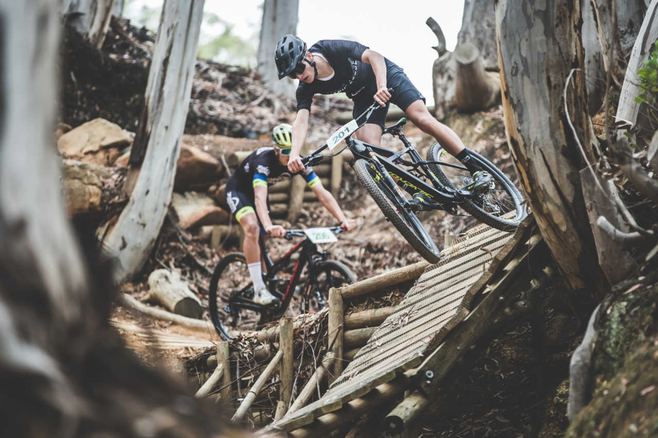 Luke Moir in action at the 2020 South African Mountain Bike Championships in Stellenbosch South Africa.