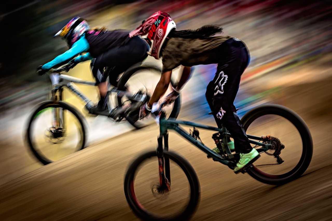 Dani Johnson mountain bike rider