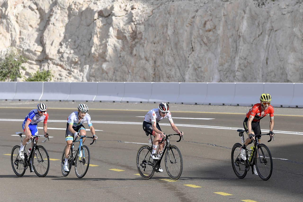 Cyclist Tadej Pogačar at the UAE Tour cycling race