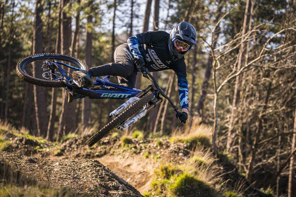 Matt Sterling in action on his mountain bike