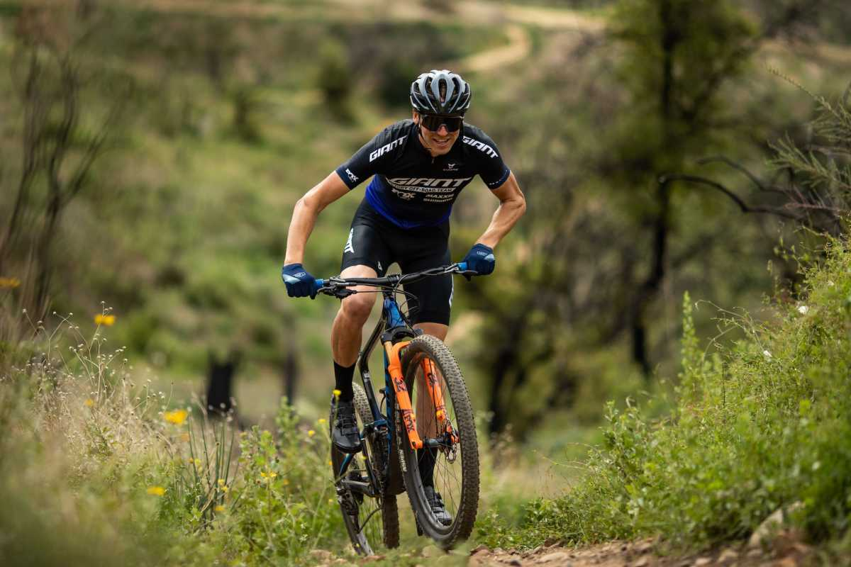 mountain bike rider Stephan Davoust in action