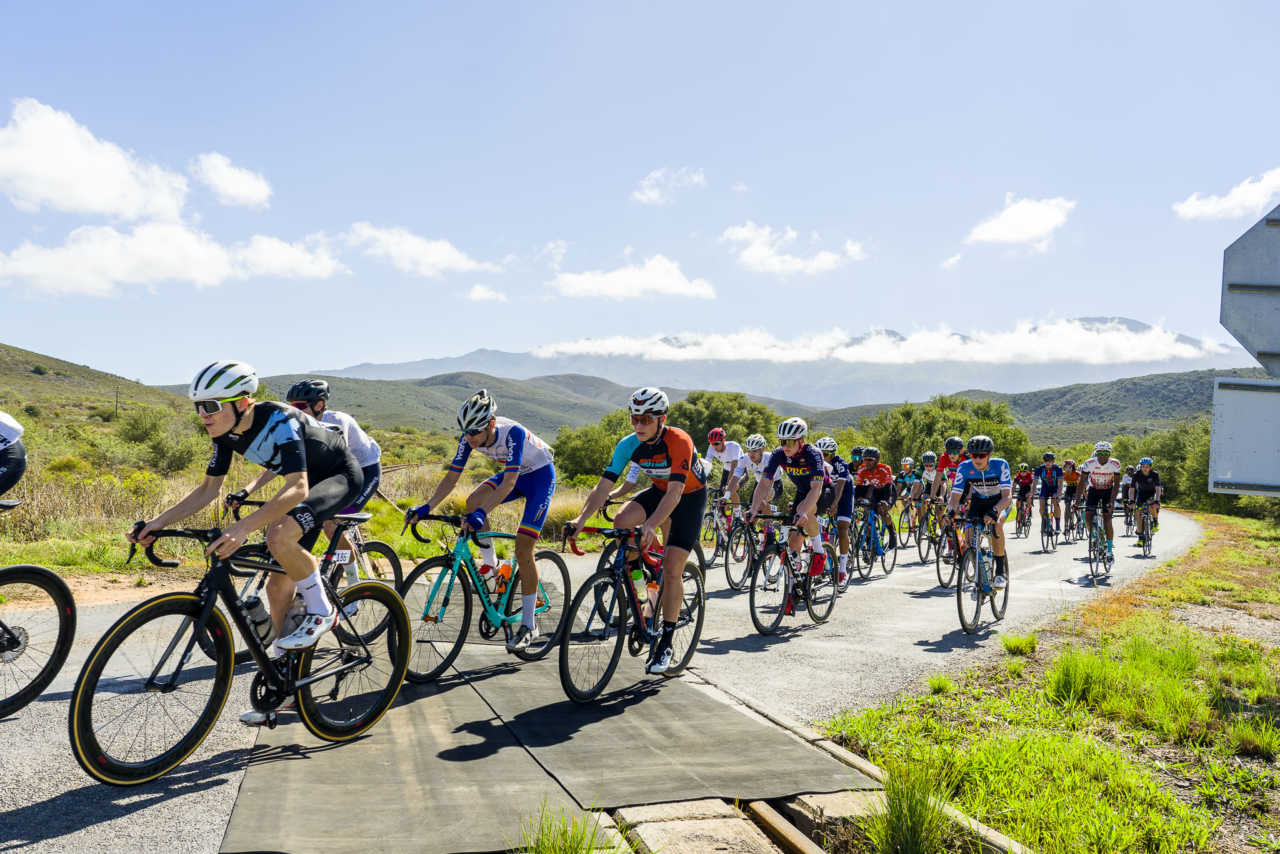 Riders in action at the 2021 South African Road Cycling championships in Swellendam