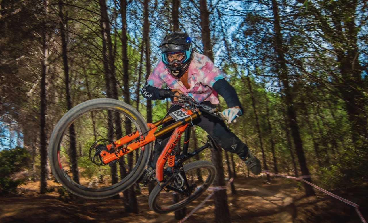 Duran van Eeden at the Western Cape Downhill Mountain Bike race in Paarl Results