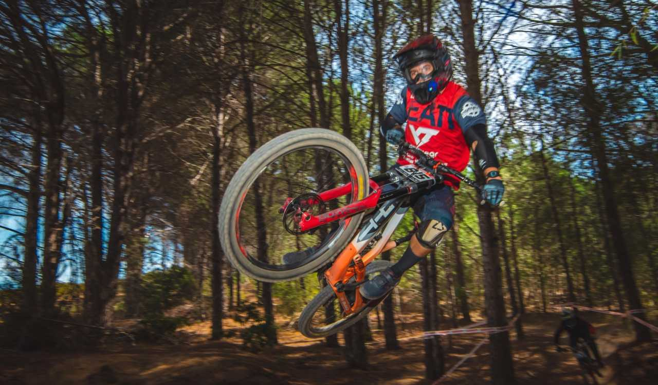 Johann Potgieter at the Western Cape Downhill Mountain Bike race in Paarl Results