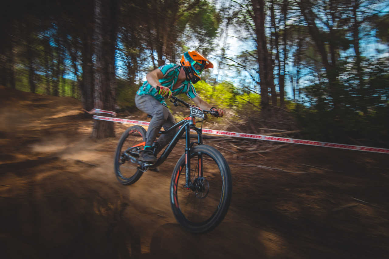Richard du Plessis at the Western Cape Downhill Mountain Bike race in Paarl Results