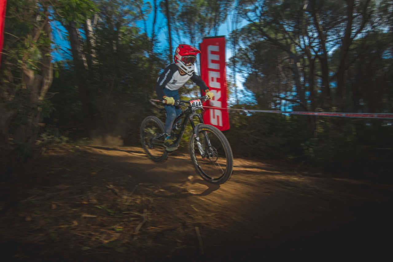Jack Schoonraad at the Western Cape Downhill Mountain Bike race in Paarl Results