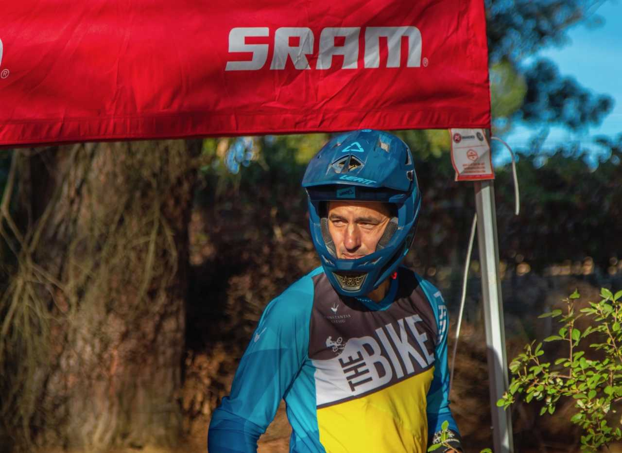 Chris Nixon at the Western Cape Downhill Mountain Bike race in Paarl Results