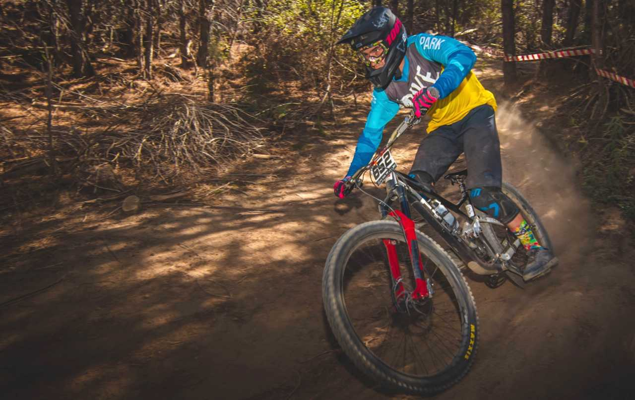 Dillan Rix at the Western Cape Downhill Mountain Bike race in Paarl Results