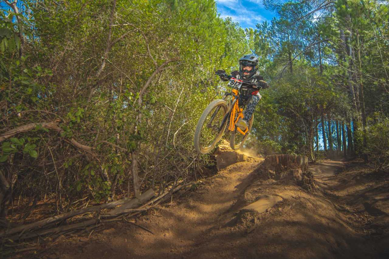 Sebastian Flynn at the Western Cape Downhill Mountain Bike race in Paarl Results