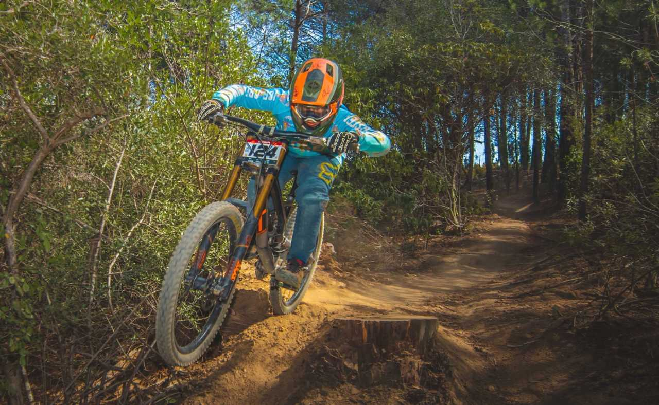 Heiko Basson at the Western Cape Downhill Mountain Bike race in Paarl Results