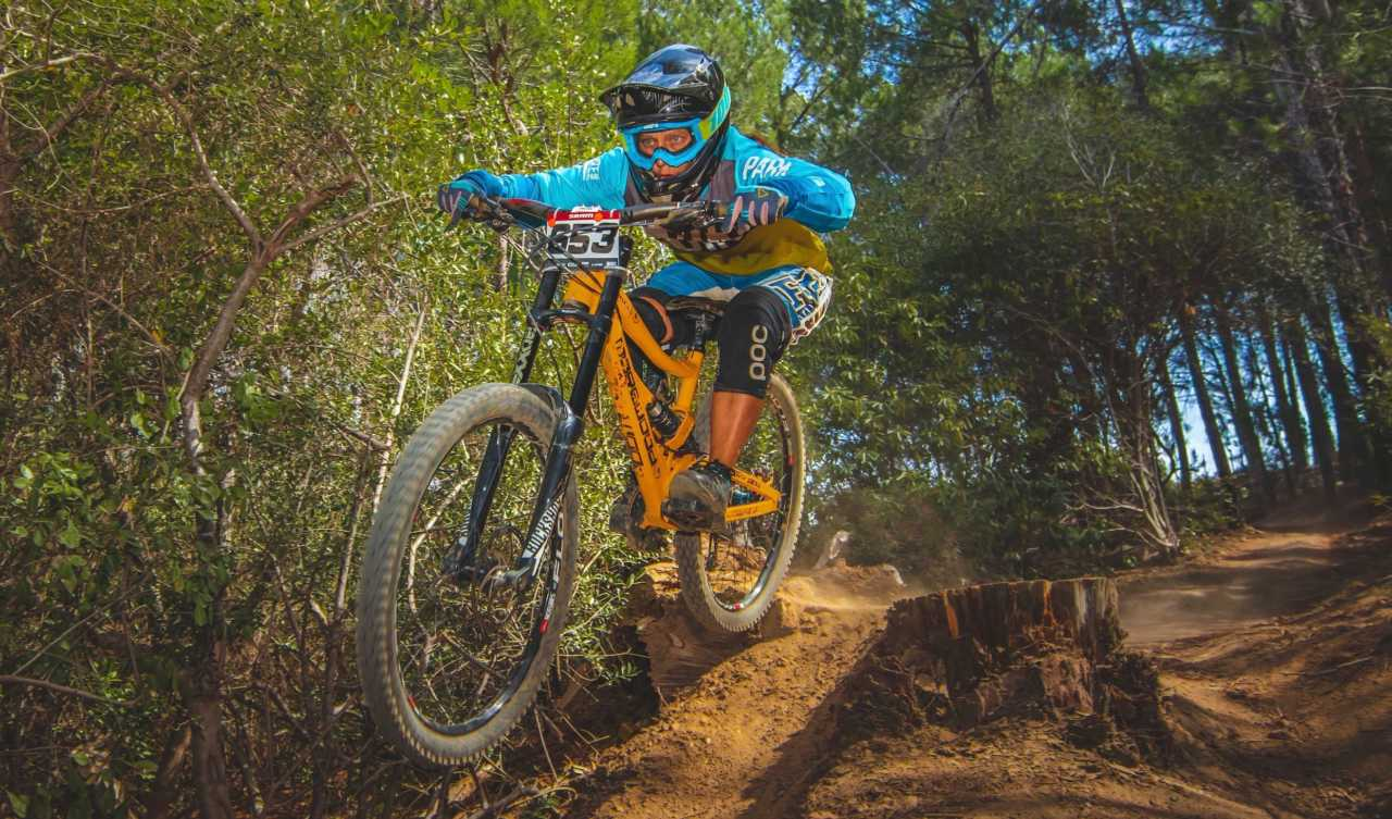 Gina Nixon at the Western Cape Downhill Mountain Bike race in Paarl Results