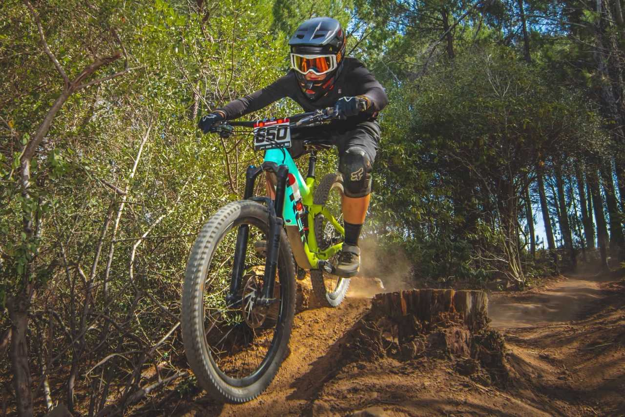 Frankie du Toit at the Western Cape Downhill Mountain Bike race in Paarl Results