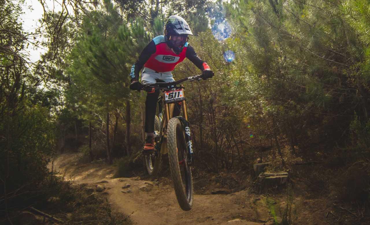 Ike Klaassen at the Western Cape Downhill Mountain Bike race in Paarl Results